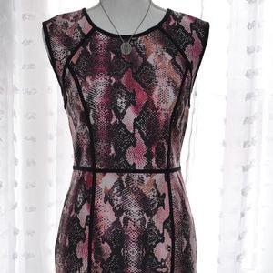 Lennifer Lopez snake skin print dress Sz 6